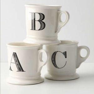 "Anthropologie Monogram Mug ""H"""